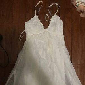 Prada white cotton mini sundress size 40/fits  4/S